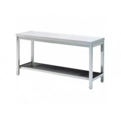 Arbetsbord med hylla, utan bakkant, 1600x700 mm