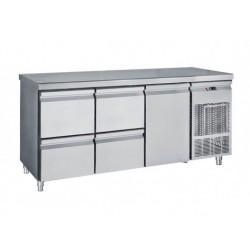 Frost - Kylbänk  1 Dörr + 4 Draglådor 1/2 ,185 Cm