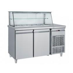 Frost - Saladette Med Glasdisplay   4St Gn 1/1 ,155Cm