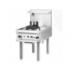 Gas wok kokplatta, en brännare, kran 1 vatten