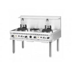 Gas wok kokplatta, 2 brännare, en soppa brännare, 2...