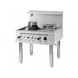 Gas wok kokplatta, en brännare, en soppa brännare, en...