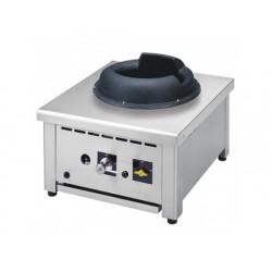 Gas wok kokplatta, bänkmodell, en brännare