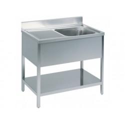 Arbetsbord med ho till höger, med bakkant, med hylla,...