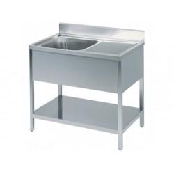 Arbetsbord med ho till vänster, med bakkant, med hylla,...