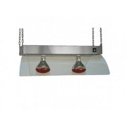 Infraröda lampor med rostfritt stål för tak-montering, 2x...