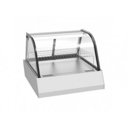 Uppvärmd bänk display 2x gn 1/1 med skjutdörrar, + 30 ° /...