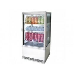 Upprätt kylmonter med 3 hyllor, bänkmodell, 70 liter, 0 °...