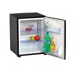 Minibar med 2 hyllor, svartfärgade, 43 liter