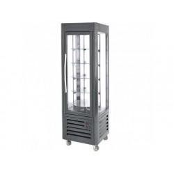 Upprätt kylmonter med 5 roterande glashyllor, ventilerad...