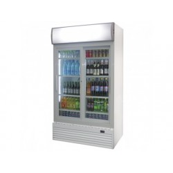 Upprätt kylmonter med 2 glasdörrar, 776 liter, + 1 ° / +...