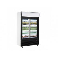 Frysskåp display 1000 liter med glas gångjärnsdörr och...