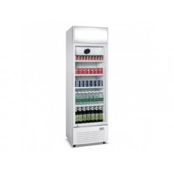 Frysskåp display 400 liter med glasdörr och reklampanel,...