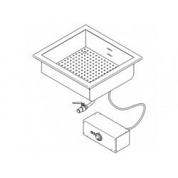 Drop-in elektrisk vattenbad, en skål gn 2/1 h   150 mm