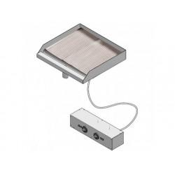 Drop-in elektrisk grill, slät och räfflad platta