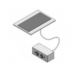 Drop-in elektrisk keramisk glashäll 2 plattor