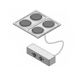Drop-in elektrisk spis, 4 plattor