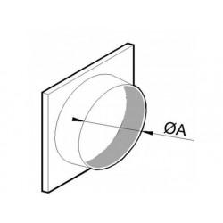 Påstick för flexibel aluminiumkanal, ø 350 mm