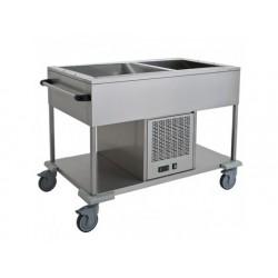 Kyld statisk vagn med bottenhylla, en diskbänk 2x gn 1/1...