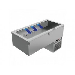 Drop-in kyld tank, 5x gn 1/1 h   200 mm