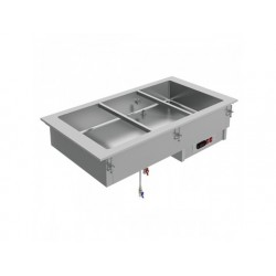 Drop-in vattenbad, elektrisk, 4x gn 1/1 h   150 mm