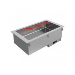 Drop-in torra bain-marie, elektrisk, 3x gn 1/1 h   150 mm