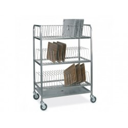 Torkställ vagn för brickor med 3 nivåer, kapacitet 60...