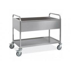 Vagn för gn kantin med en bottenhylla, 3x gn 1/1 h   200 mm