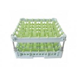 Glaskorg, kapacitet 36 glas, 500x500 mm