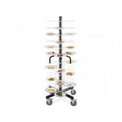Plattor stacker på hjul, kapacitet 96 plattor ø 180-240 mm
