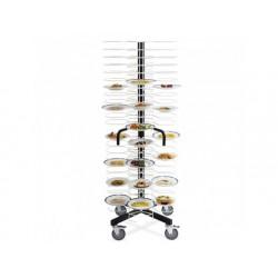 Plattor stacker på hjul, kapacitet 96 plattor ø 240-310 mm
