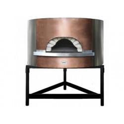 Vedeldad pizzaugn med koppar fasad, bäddplatta ø 1100 mm,...