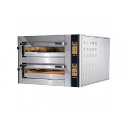 Elektrisk pizzaugn för 4 + 4 pizzor ø 350 mm, elektronisk...