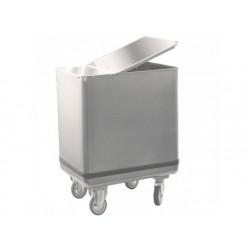 Vagn för mjöltransporter med lock av rostfritt stål, 195...