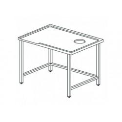 Vänster sorteringsbord med hål, för högerexit maskiner, w...