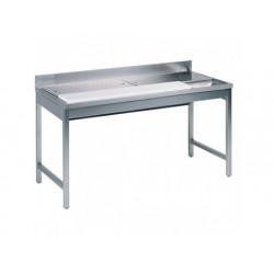 Köttberedningsbord,  med skärbräda och avfall hål, l...