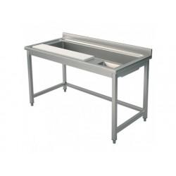Grönsaksberedningsbord,  med skärbräda och skål, l   1400 mm