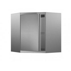 Väggskåp, hörn modell med dörr, 700x700 mm