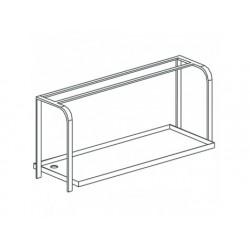 Korg-hållare overshelf, vägg typ, w   1100 mm