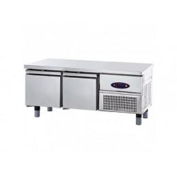 Frysgrillkylbänk med 2 lådor 1/1 för kokplattor, w   1400 mm