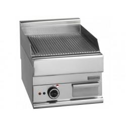 Elektrisk grill, bänkmodell, spårförsedd platta