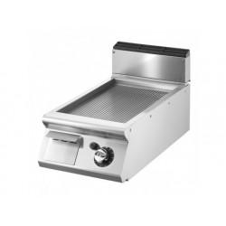 Stekbord, bordsmodell, räfflad kromad platta