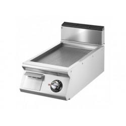 Elektrisk grill, bordsmodell, räfflad kromad platta