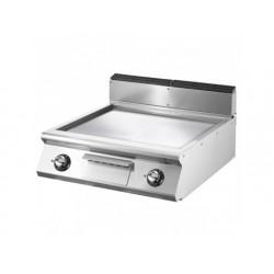 Elektrisk grill, bordsmodell, slät kromad platta
