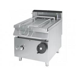 Tippstekbord, kapacitet 50 liter, rostfritt stål väl